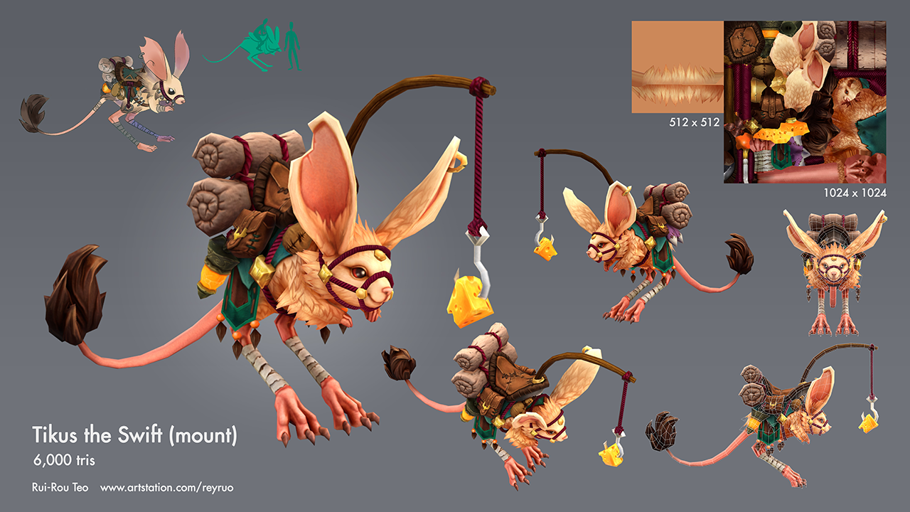 Tikus the Swift (mount) by Rui Rou Teo- Academy of Art