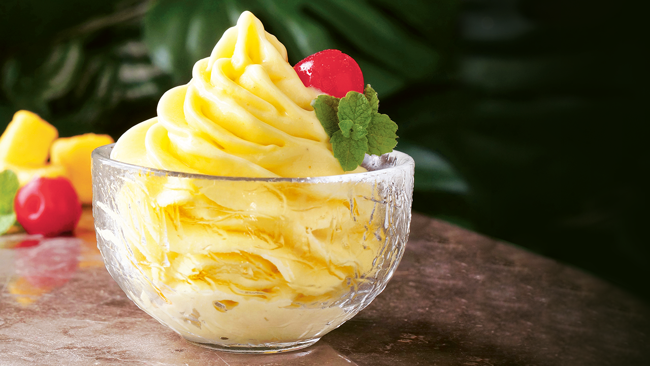 Light Yellow Troll Whip Swirled in a Glass Dish