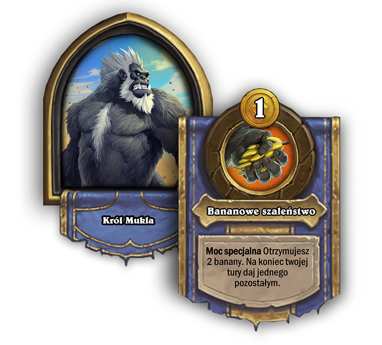 King Mukla Battlegrounds Hero Power, Cost 1, Get 2 Bananas. At the end of your turn, give everyone else one.