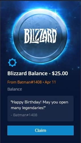Blizzard Balance Gifting Now Available! — All News