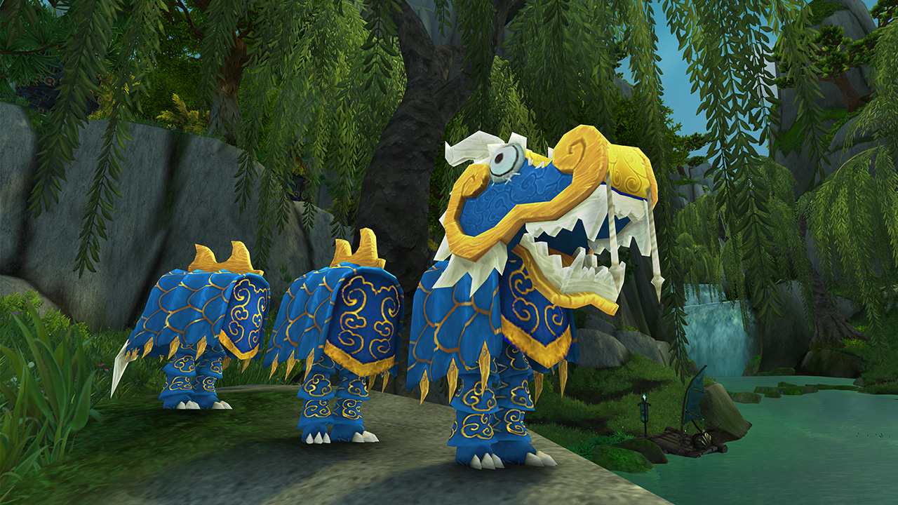 Costume de dragon bleu