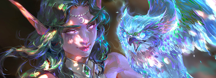 "Second Place - ""The Light of Elune"" by Sheng Yi Sun aka GASONE"