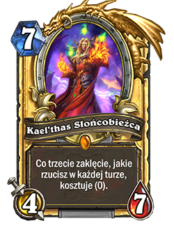 Golden Kaelthas Sunstrider card + Art