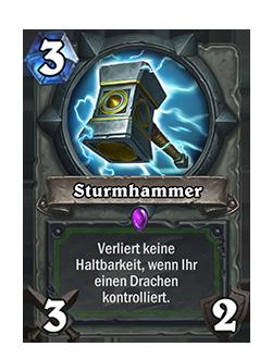 Der alte Sturmhammer hatte einen neutralen Rahmen für das Bild und den Text.