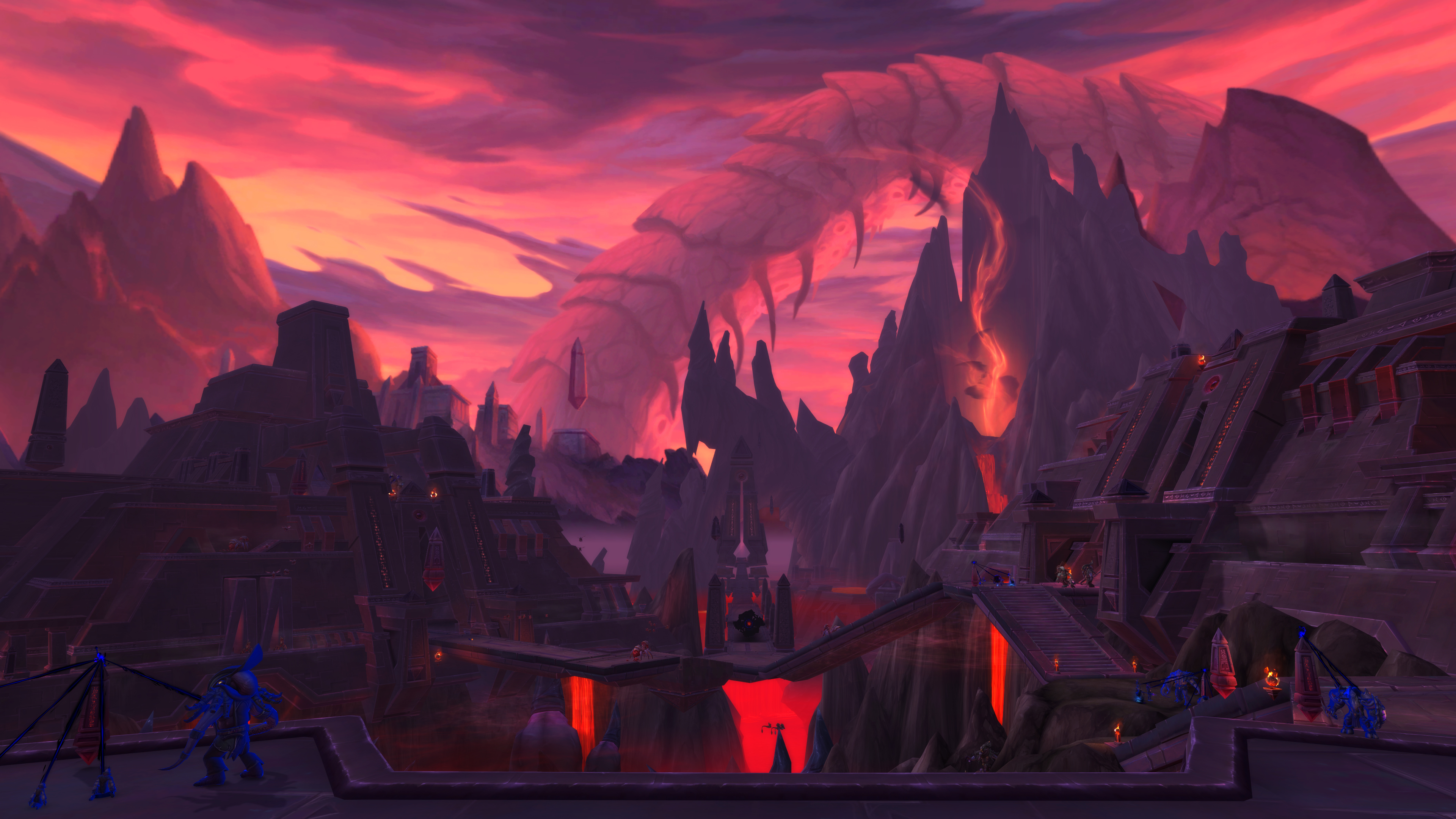 New Battle For Azeroth And Shadowlands 4k Digital Backgrounds