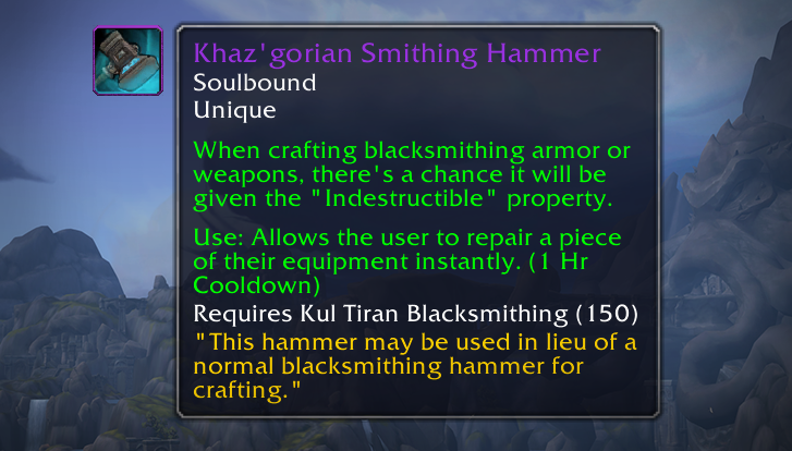 Khaz'gorian Smithing Hammer