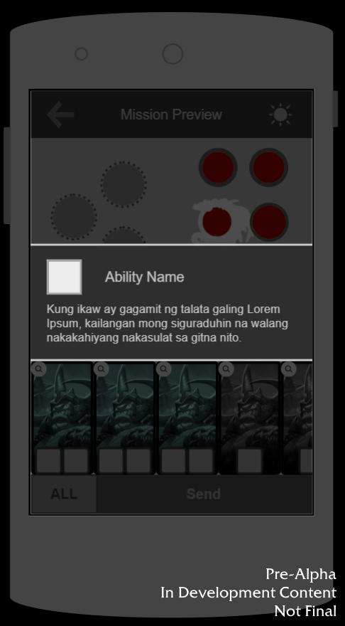 Тестовый интерфейс версии для мобильных устройств