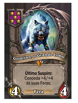 Goldrinn, o Grande Lobo - antes