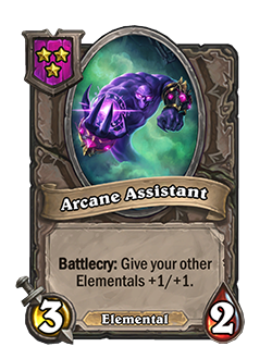 arcane assistant used to have 2 health