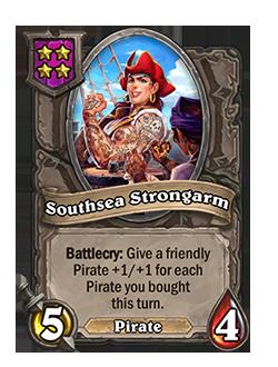 Southsea Strongarm Battlegrounds Minion + Art