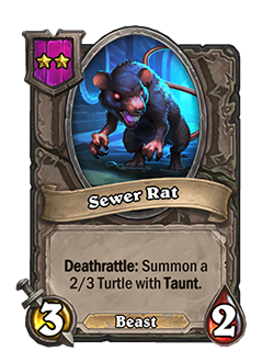 Sewer Rat has 3 attack and 2 health.