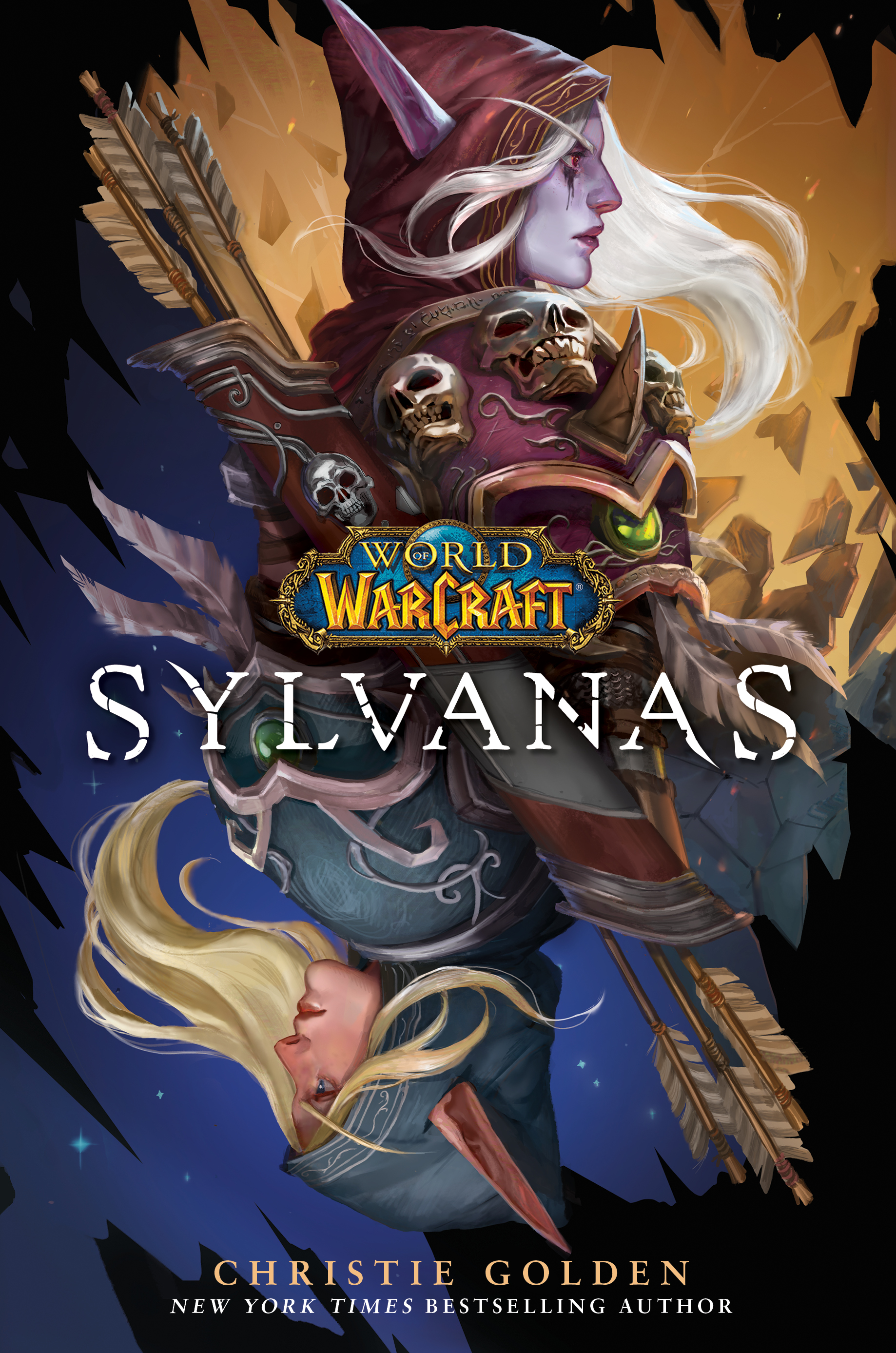 Image of Sylvanas as the Banshee Queen and as Ranger General Sylvanas Windrunner