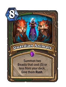 now Guardian Animals cost 8 mana