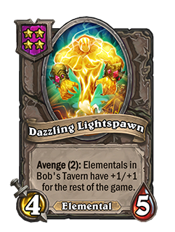Dazzling Lightspawn has 4 attack and 5 health.