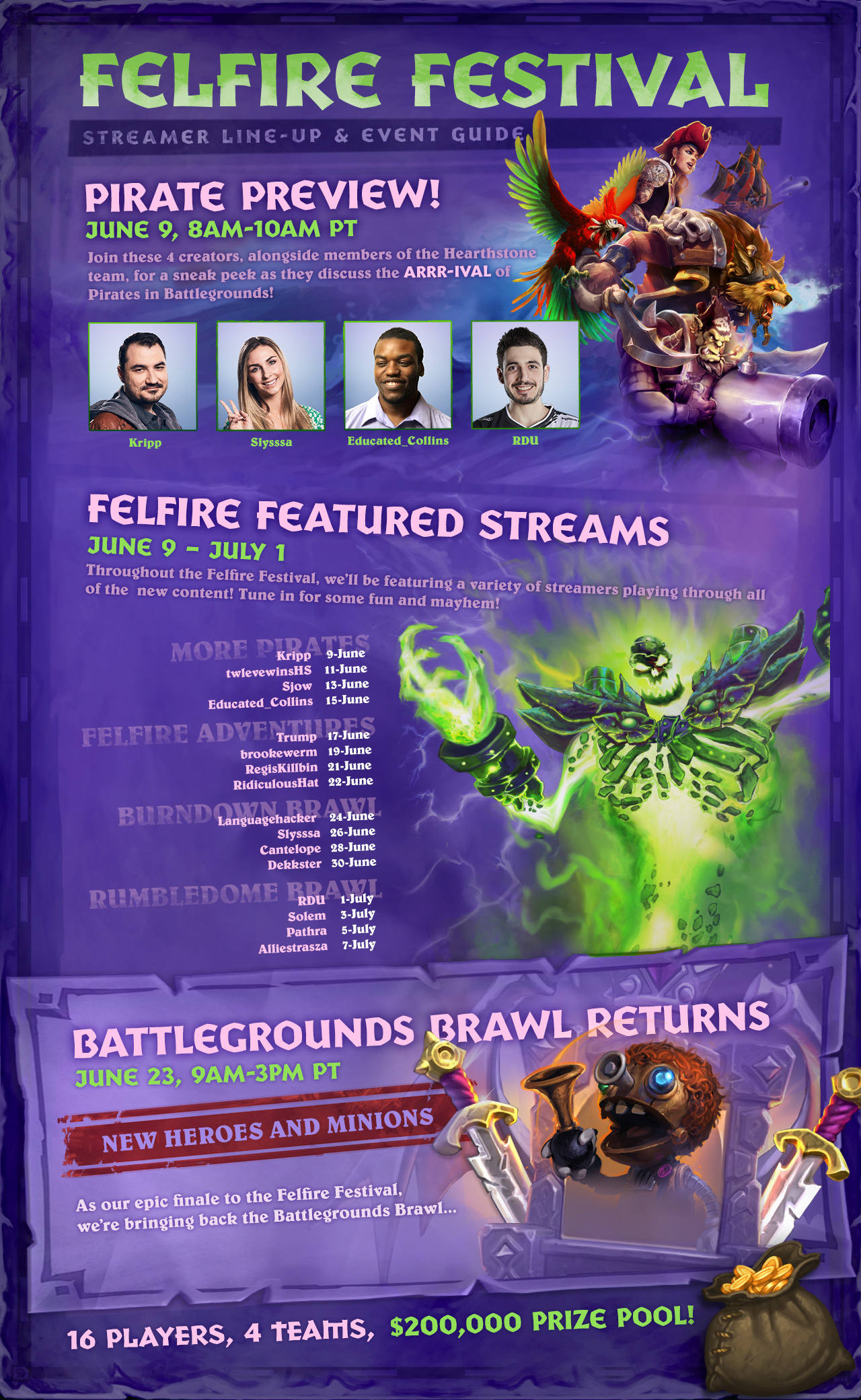 Felfire Festival Event Flyer, detailed below.