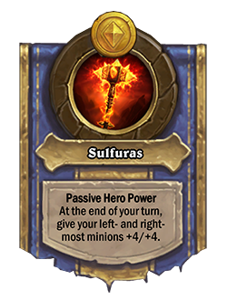 Old upgraded Ragnaros Battlegrounds Hero Power