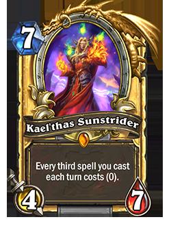 Golden Kaelthas Sunstrider card + Art