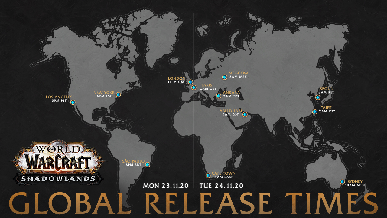 Shadowlands Global Release Map