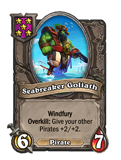 Seabreaker Goliath Battlegrounds Minion + Art