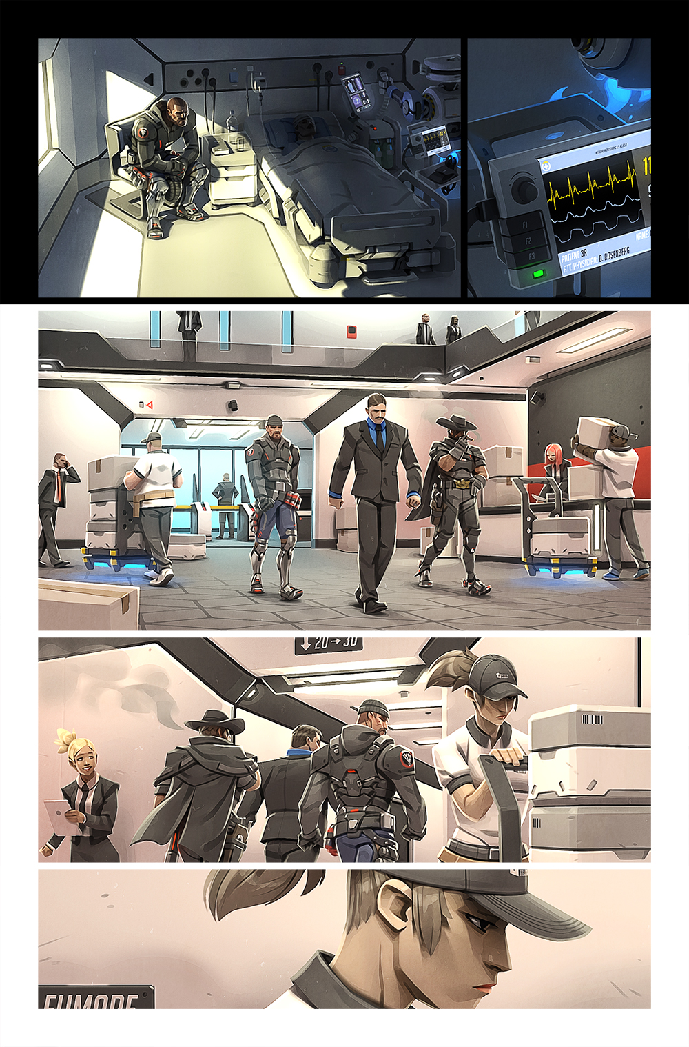 Image of: Masquerade Blackwatch Agents Are Tasked With Apprehending The Mastermind But Their Plans Are Quickly Interruptedu2026 Overwatch Overwatch Digital Comic retribution News Overwatch