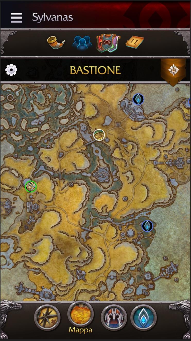 Mappa delle missioni Chiamata