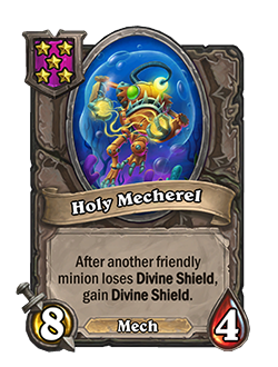 Holy Mecherel has 8 attack and 4 health.