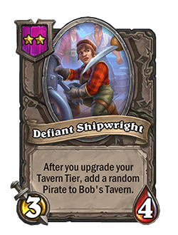 Defiant Shipwright has 3 attack and 4 health.