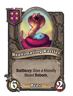 Reanimating Rattler has 6 attack and 2 health.