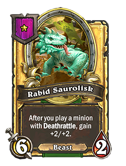 Rabid Saurolisk Golden Minion