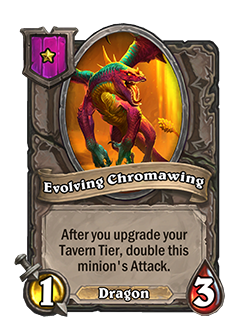 Evolving Chromawing has 1 attack and 3 health.