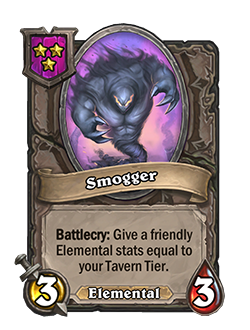 Smogger has 3 attack and 3 health.