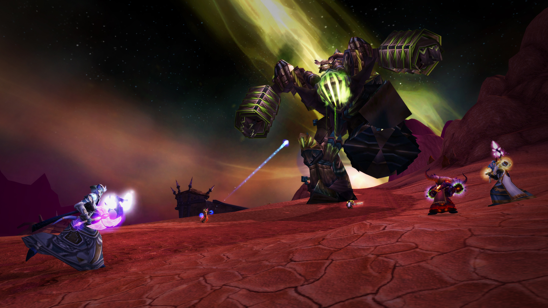 Fel Reaver Being Attacked By Players