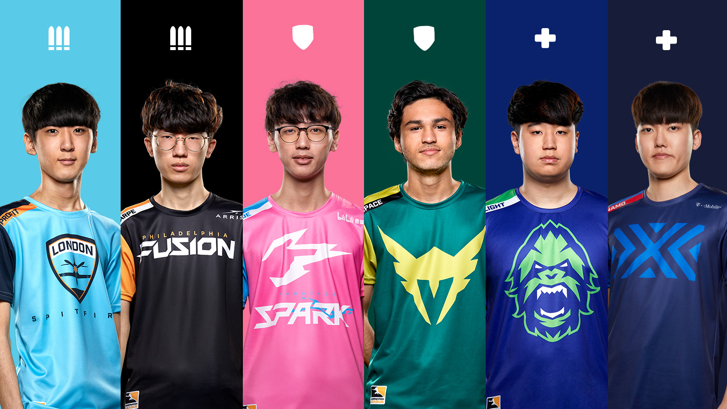 Six Overwatch League players
