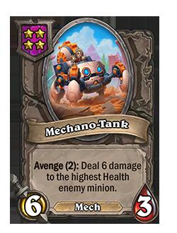 Mechano-Tank has 6 attack and 3 health.
