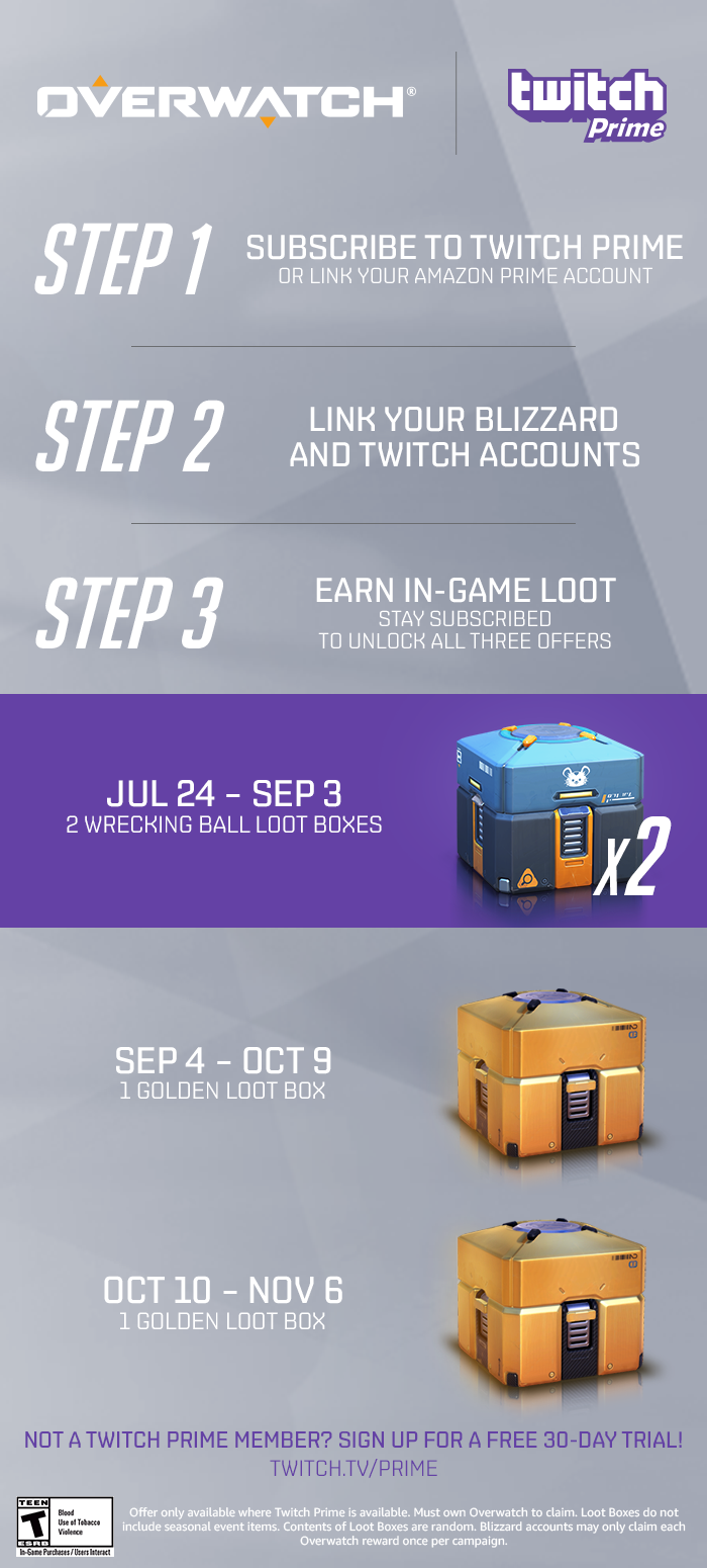 Unlock New Rewards in Overwatch with Twitch Prime - News