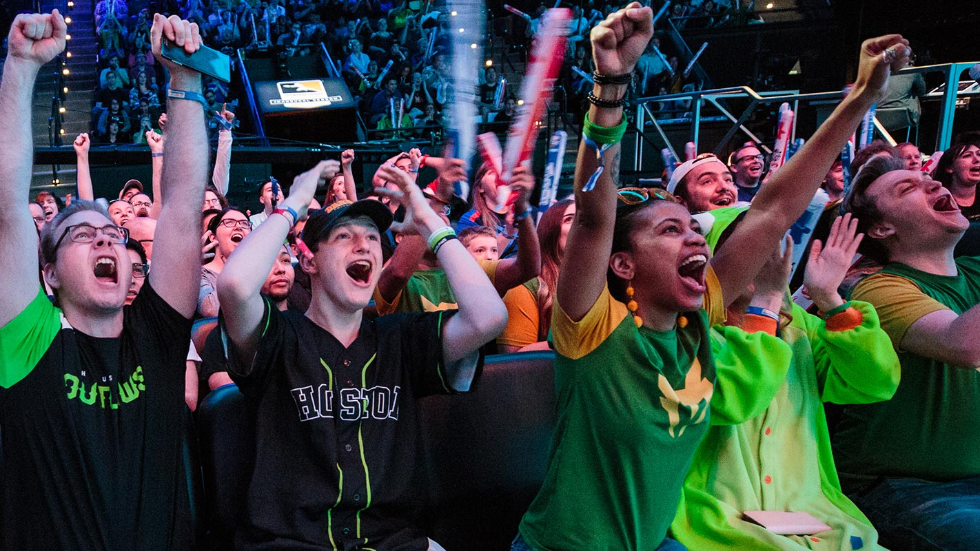 OWL fans at the Blizzard Arena