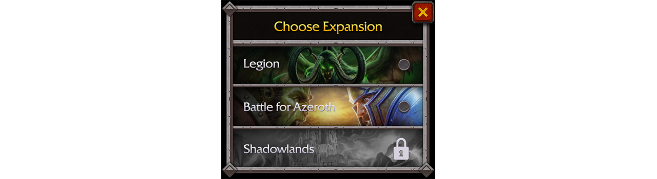 Choose Your Expansion