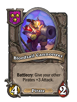 Bloodsail Cannoneer Battlegrounds Minion + Art