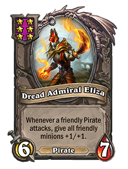 Dread Admiral Eliza Battlegrounds Minion + Art