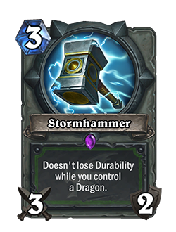Old Stormhammer used to have a neutral frame bordering the art and text.