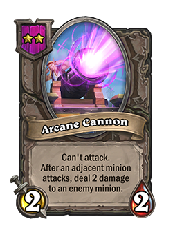 Arcane Cannon Battlegrounds Minion + Art