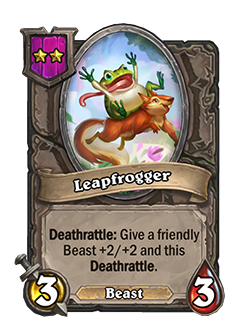 Leapfrogger has 3 attack and 3 health