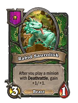 Rabid Saurolisk old attack 3 health 1 tier 1