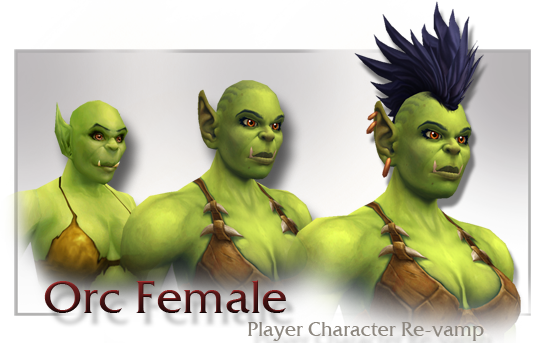 orc female player character revamp