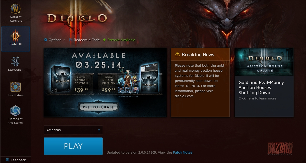 Diablo launcher stuck at updating tools