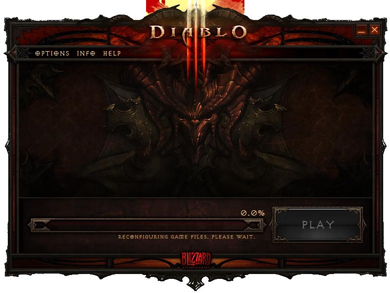 Diablo launcher stuck at updating tools
