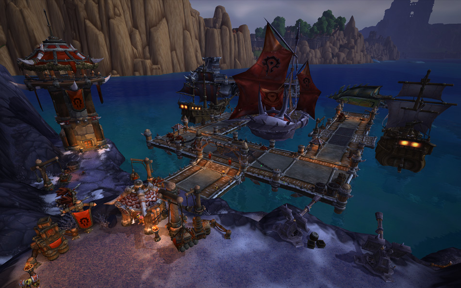 Preview of the alliance and horde shipyards blizzplanet warcraft horde shipyard malvernweather Image collections