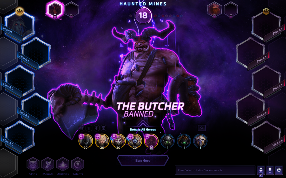 Hots you cannot enter the matchmaking queue