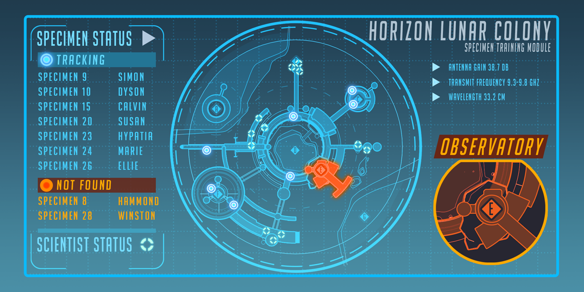 A map of the Horizon Lunar Colony, likely the next Overwatch map, was included in Blizzard's blog post on the fictional Atlas News website.