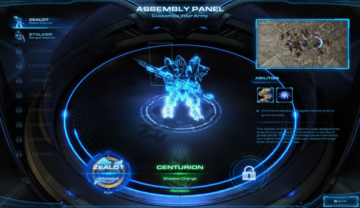 Legacy of the Void Protoss Campaign Units Variations
